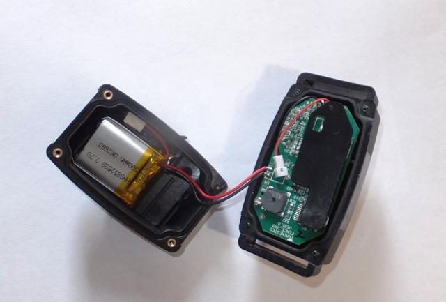 Расположение батареи в корпусе ресивера ДТ-1200